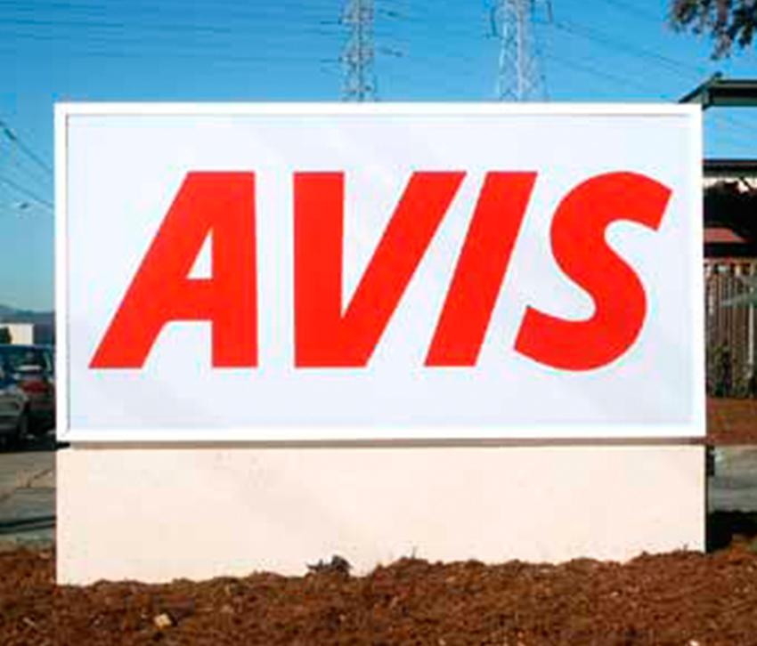 Επιδαπέδια πινακίδα Avis