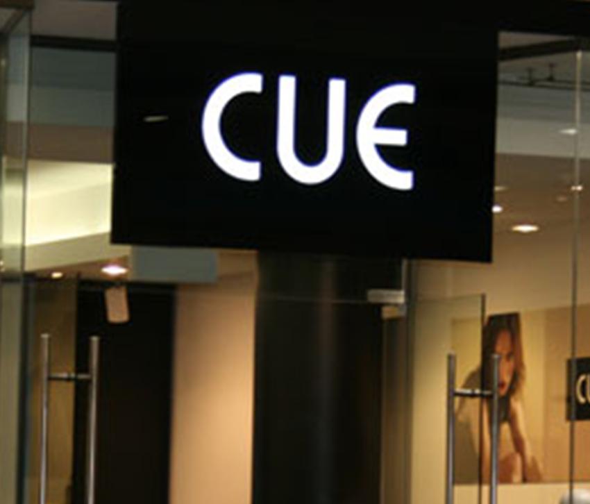 Φωτεινή επιγραφή Cue